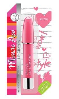 Son sáp bút chì Miracle Apo Lip Crayon Shy Pink 3g (Hồng tiểu thư)