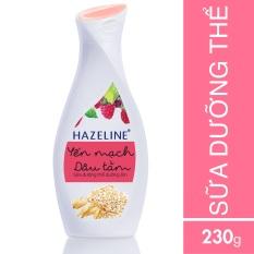 Sữa dưỡng thể HAZELINE yến mạch & dâu tằm 230ml