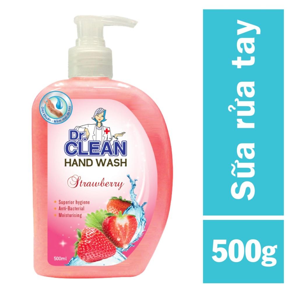Sữa Rửa Tay Dr. Clean – Dâu (500ml)
