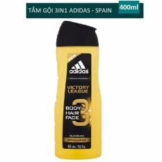 Sữa tắm gội rửa mặt 3 trong 1 cho nam 400ml Adidas 3 in 1 Victory League – Guarana