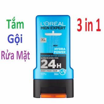 Sữa tắm gội rửa mặt L'oréal Men Expert Hydra Power 300ml