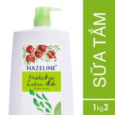 Sữa tắm Hazeline matcha & lựu đỏ 1.2kg