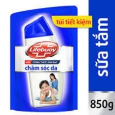 Sữa tắm Lifebuoy chăm sóc da túi 850g túi xanh
