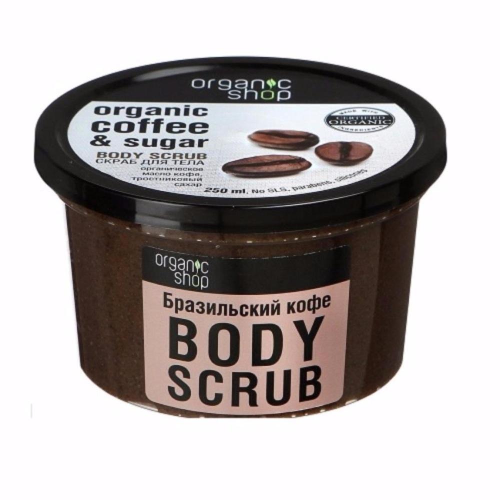Tẩy tế bào chết cho cơ thể Organic Shop Coffee & Sugar Body Scrub