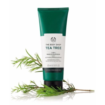 Giá KM Tẩy tế bào chết THE BODY SHOP Tea Tree 3-in-1 wash scrub mask 125ml