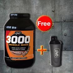 Thực phẩm bổ sung 3000 Muscle Mass Protein 4,5Kg + Tặng bình lắc Shaker (Đen)