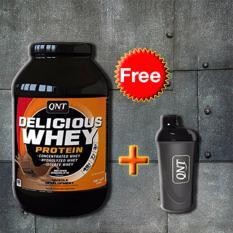 Chỗ bán Thực phẩm bổ sung Delicious Whey Protein 2.2kg + Tặng bình lắc Shaker (Đen)