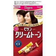 Thuốc Nhuộm Phủ Bạc Tóc Bigen Số 6G Nhật Bản -Đen tự nhiên