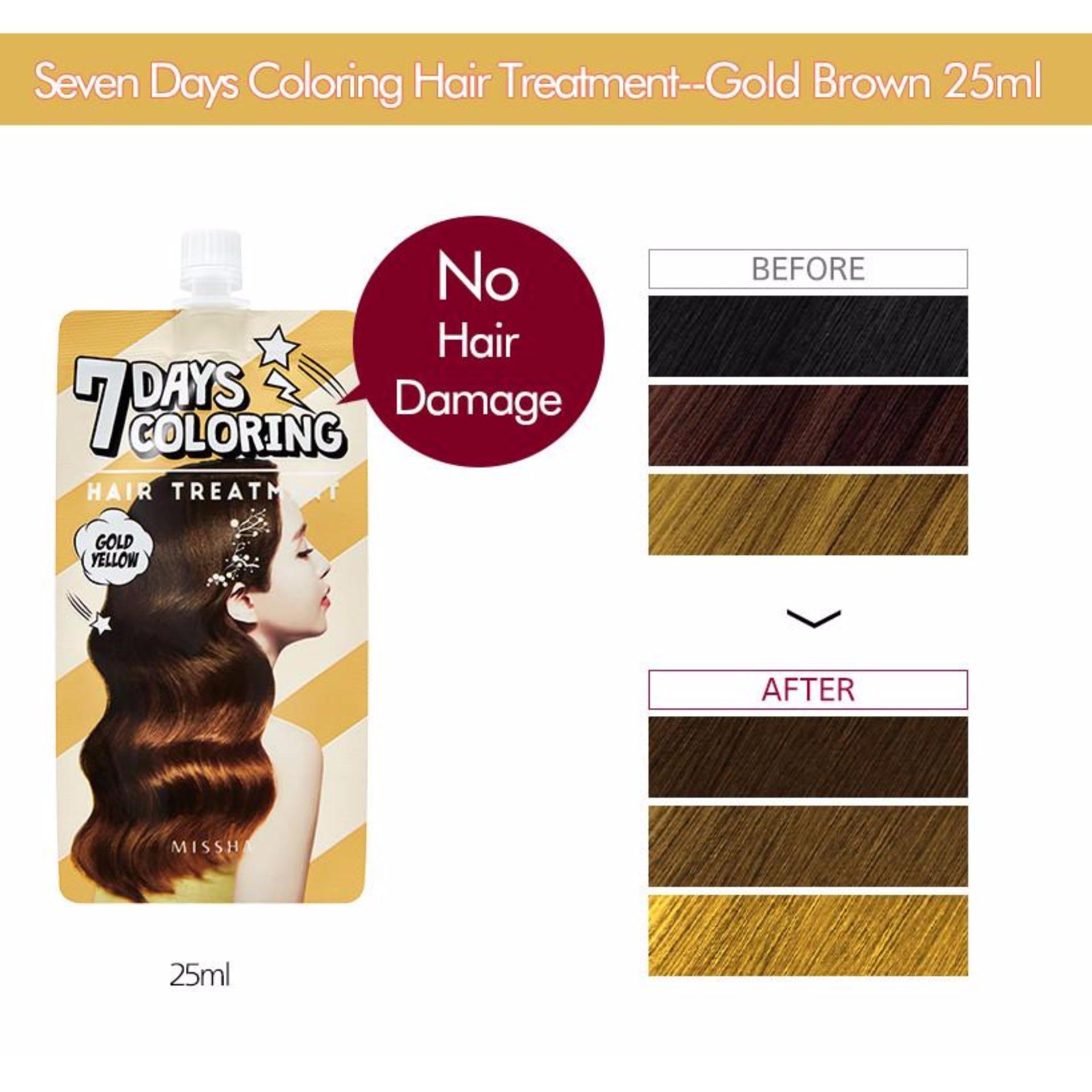 Địa Chỉ Bán Thuốc Nhuộm Tóc 7 Ngày Missha 7 Days Coloring Hair Treatment 25ml# Gold Yellow