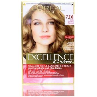 Thuốc nhuộm tóc L'Oreal Exc Crème 7.01 172ml (Vàng sáng năng động)