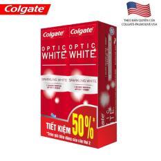[Tiết kiệm 50%] Bộ 2 kem đánh răng Colgate Optic White Twin 100g