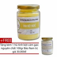 Tinh Bột Nghệ Nguyên Chất 100gr Tặng Tinh Bột Cám Gạo 100gr Dành Cho Da Nhạy Cảm