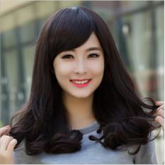 Nơi nào bán Tóc giả nữ Hàn Quốc cao cấp có da đầu + tặng kèm Lưới trùm tóc – TG4855 ( MÀU ĐEN TỰ NHIÊN )