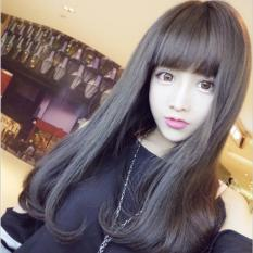 So Sánh Giá Tóc giả nữ Hàn Quốc cao cấp có da đầu + tặng Lưới trùm tóc – TG8665 ( MÀU NÂU ĐẬM )