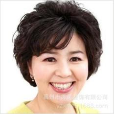 Tóc giả nữ trung niên Hàn Quốc cao cấp có da đầu – TG4512 ( NÂU ĐẬM NHƯ HÌNH )