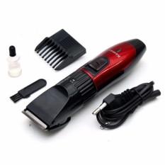 Tông đơ cắt tóc chuyên nghiệp tphcm giá rẻ KM-730 (Đỏ) + Tặng kẹp chống muỗi tinh dầu