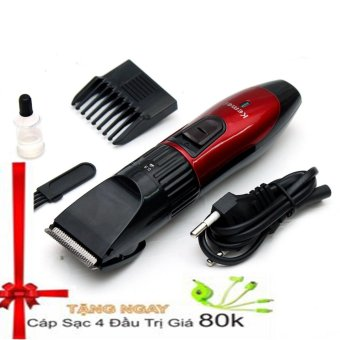 Tông đơ cắt tóc KEMEI KM-730 (Đỏ phối đen) + Tặng dây sạc dút 4 đầu - 8486619 , OE680HBAA3HYFMVNAMZ-6162746 , 224_OE680HBAA3HYFMVNAMZ-6162746 , 299000 , Tong-do-cat-toc-KEMEI-KM-730-Do-phoi-den-Tang-day-sac-dut-4-dau-224_OE680HBAA3HYFMVNAMZ-6162746 , lazada.vn , Tông đơ cắt tóc KEMEI KM-730 (Đỏ phối đen) + Tặng dây sạc