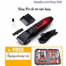 Tông đơ cắt tóc trẻ em giao màu ngẫu nhiên tặng kèm bộ dụng cụ làm móng 10 món