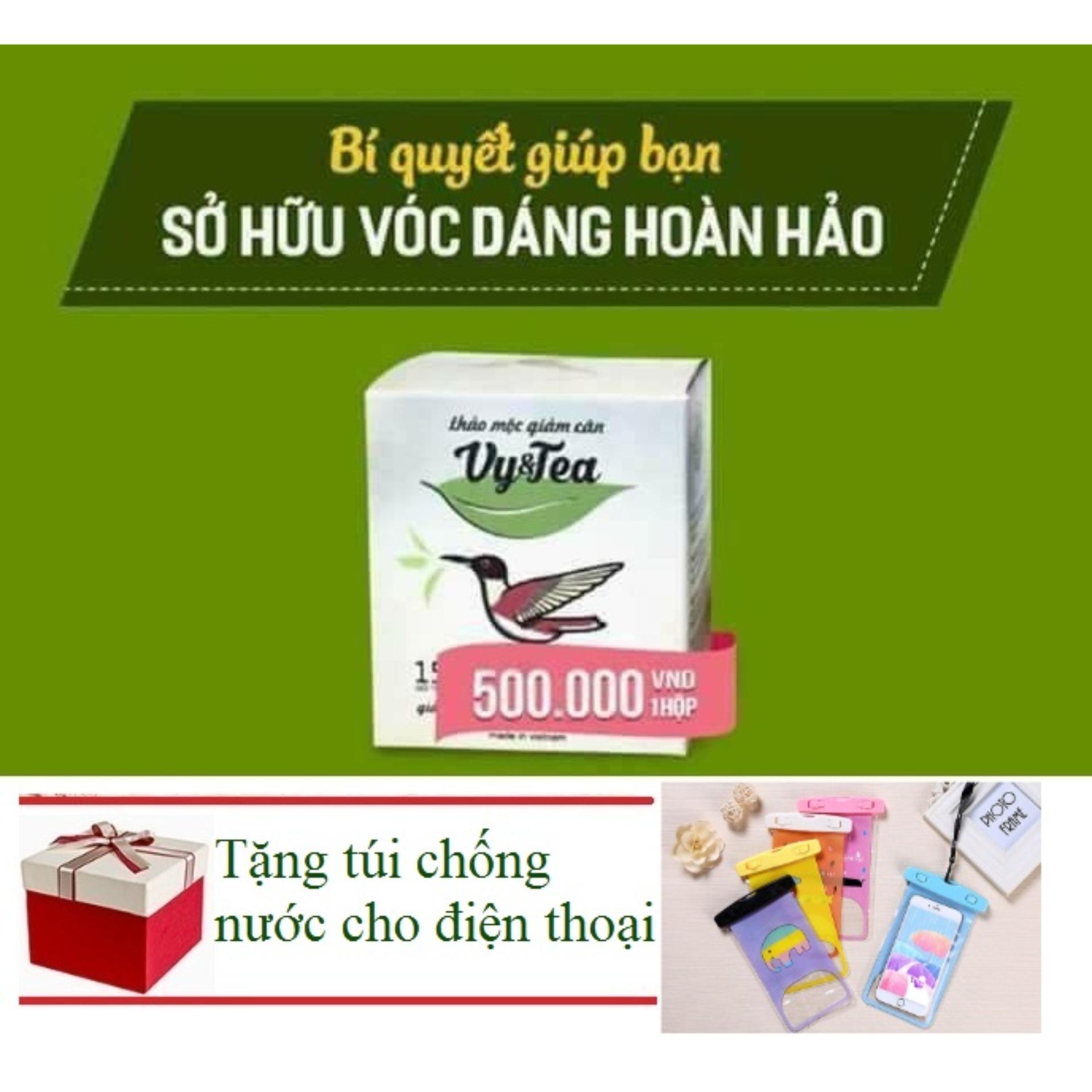Trà Giảm Cân Tan Mỡ Vy Tea ( Liệu Trình 15 Ngày) + Tặng Túi Chống Nước Cho Điện Thoại