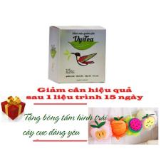 Trà thảo mộc giảm cân Vy & Tea Chính Hãng – Liệu trình 15 ngày + Tặng Bông Tắm Trái Cây Xinh Xắn