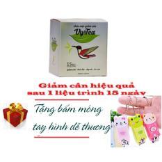 Trà thảo mộc giảm cân Vy Tea – HÀNG CHÍNH HÃNG- 15 gói – Tặng đồ bấm móng tay kute