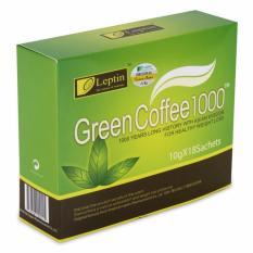 Trà xanh tan mỡ bụng, tan mỡ đùi green coffee 1000 từ MỸ ( 18 gói)