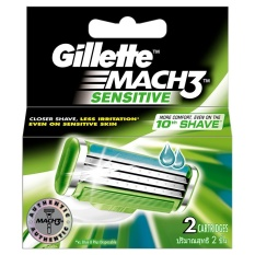 Vỉ 2 lưỡi dao Gillette Mach3 Sensitive