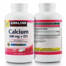 Viên uống bổ sung canxi 600mg và vitamin D3 400IU Kirkland Signature hộp 500 viên – Mỹ