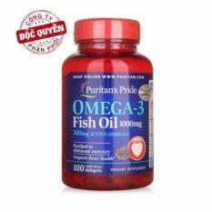 Dầu cá bổ sung EPA DHA bổ mắt, não, tim mạch, tăng cường hệ miễn dịch Puritan's Pride Omega-3 Fish Oil 1000mg Omega 3 hsd 11/2019