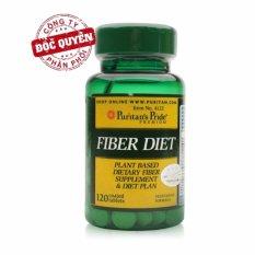Viên uống bổ sung chất xơ, giảm hấp thụ chất béo, hỗ trợ giảm cân, ngăn ngừa táo bón Puritan's Pride Fiber Diet 120 viên HSD tháng 2/2019