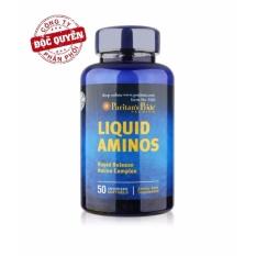 Viên uống kích thích ăn ngon, hỗ trợ tăng cơ, tăng cân (chứa L-Lysine, L-Arginine, L-Cysteine…) Puritan's Pride Liquid Aminos 50 viên HSD 01/2022