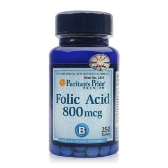 Viên uống ngăn ngừa thiếu máu Puritan's Pride Folic Acid 800mcg 250 viên HSD tháng 9/2018