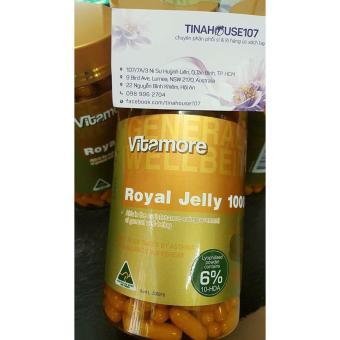 Viên uống sữa ong chúa Vitamore Royal jelly 1000mg 365 viên của Úc. - 8827607 , VI605HBAA6ZT8WVNAMZ-12835979 , 224_VI605HBAA6ZT8WVNAMZ-12835979 , 1150000 , Vien-uong-sua-ong-chua-Vitamore-Royal-jelly-1000mg-365-vien-cua-Uc.-224_VI605HBAA6ZT8WVNAMZ-12835979 , lazada.vn , Viên uống sữa ong chúa Vitamore Royal jelly 1000m