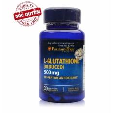 Viên uống trắng da, tăng cường hệ miễn dịch Puritan's Pride Premium L-Glutathione 500mg 30 viên