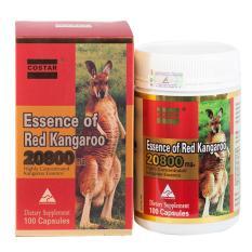 Viên uống tăng cường sinh lý Essence of Red Kangaroo 20800 Max tặng 1 son dưỡng môi Cocoon