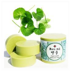 Xà phòng rửa mặt cao cấp bột rau má Ecolife trị sẹo, dưỡng da, chống lão hóa 100g