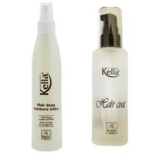Xịt Dưỡng Kella Làm Mềm Tóc 250ml + Dầu bóng dưỡng tóc Kella Hair Coat 60ml