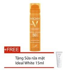 Ở đâu bán Xịt khoáng chống nắng cho da mặt Ideal Vichy Soleil Fresh Face Mist 75ml + Tặng sữa rửa mặt trắng da Ideal White 15ml