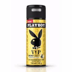 Xịt khử mùi toàn thân dành cho nam Playboy 24h Deadorant Body Spray – Vip 150ml