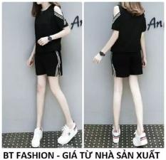 Đồ Bộ Áo Thun Nữ + Quần Đùi Sọt Thun Nữ Thời Trang – BT Fashion (TT01-Xẻ Vai)