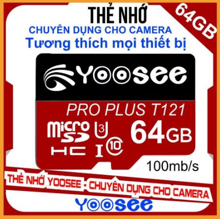Thẻ Nhớ 64GB YooSee Chính Hãng Tốc Độ Cao – Chuyên dụng cho camera và điện thoại