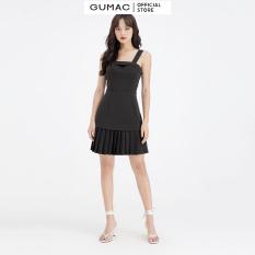 Đầm nữ sát nách dập ly GUMAC DB649