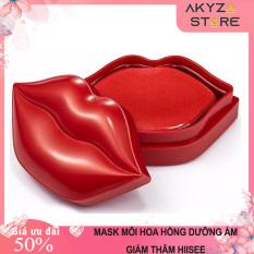 Hộp 20 Miếng Mặt Nạ Môi Hoa Hồng Dưỡng Ẩm Hiisees Akyzo Store, Giảm Thâm Mềm Môi Căng Mọng Rose Moisturizing Lip Mask.