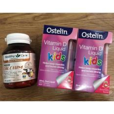 Calcium Ostelin Kids Vitamin D3 và úc -viên bổ sung vitamin D3 cho bé hôp