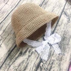 Mũ cói trẻ em, mũ cói mùa hè, mũ đi biển cho bé, nón cói cho bé đội đi biển, nón cho bé, nón hè cho bé