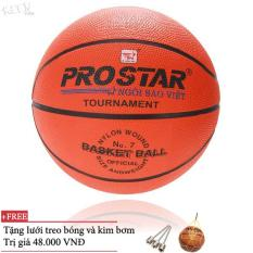 Quả bóng rổ Prostar số 3,5,6,7 (Cam) và Tặng kim bơm và lưới đựng bóng ĐỒ TẬP TỐT