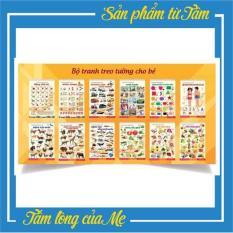 Bộ tranh treo tường 12 chủ đề cho bé học tiếng Anh và Tiếng Việt, Đồ chơi giáo dục Chôm Kids