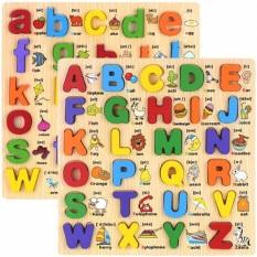 Đồ chơi bảng chữ cái nổi tiếng Anh 30x30Cm họa tiết minh họa phiên âm cho bé