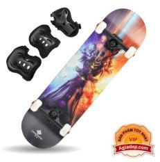 Ván trượt chuyên nghiệp SkateBoard (Phi thuyền mặt đất Landyard) + Bộ bảo vệ chân tay – Hàng Vip của Agiadep