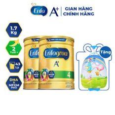 [Tặng Vali Kéo Cho Bé] Combo 2 Lon Sữa Bột Enfagrow A+ 4 1.7kg (2 Tuổi +)